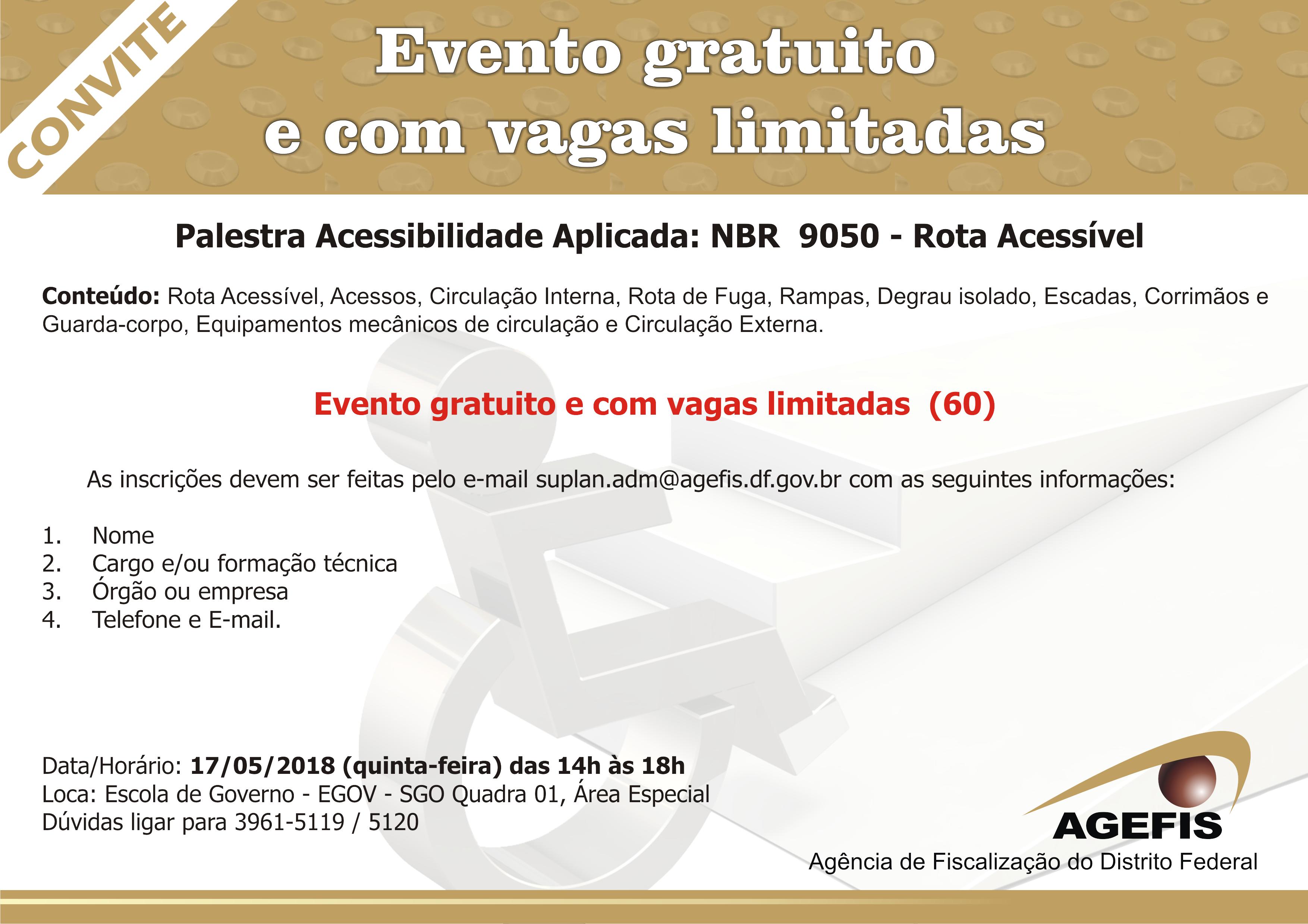 """Evento  Agefis faz palestra gratuita sobre """"Acessibilidade Aplicada ... 398484d8ec"""